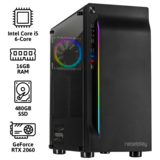 REBELPLAY® Gaming PC - Core i5 - RTX 2060 - 16GB RAM - 480GB SSD - RGB - WiFi_